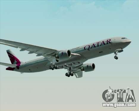 Airbus A330-300 Qatar Airways for GTA San Andreas back view