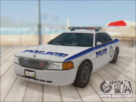 Admiral Police for GTA San Andreas back view