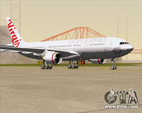 Airbus A330-200 Virgin Australia for GTA San Andreas left view