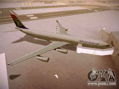 Airbus A340-300 South African Airways for GTA San Andreas bottom view