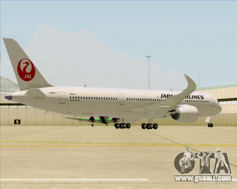Airbus A350-941 Japan Airlines for GTA San Andreas back view