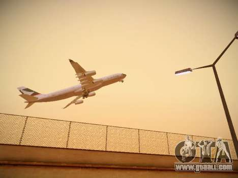 Airbus A340-300 Cathay Pacific for GTA San Andreas back left view