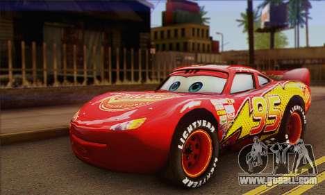 Lightning McQueen for GTA San Andreas