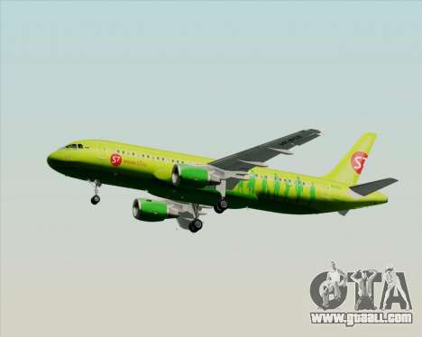 Airbus A320-214 S7-Siberia Airlines for GTA San Andreas upper view