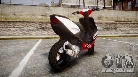 Yamaha Aerox for GTA 4 back left view