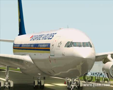 Airbus A340-313 Singapore Airlines for GTA San Andreas engine