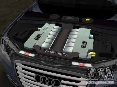 Audi A8 2010 W12 Rim1 for GTA Vice City bottom view