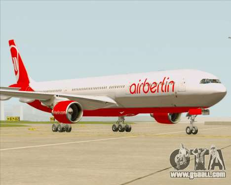 Airbus A330-300 Air Berlin for GTA San Andreas back left view
