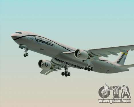 Airbus A330-300 Fly International for GTA San Andreas bottom view