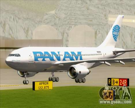 Airbus A310-324 Pan American World Airways for GTA San Andreas left view