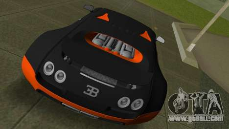 Bugatti Veyron Super Sport for GTA Vice City right view