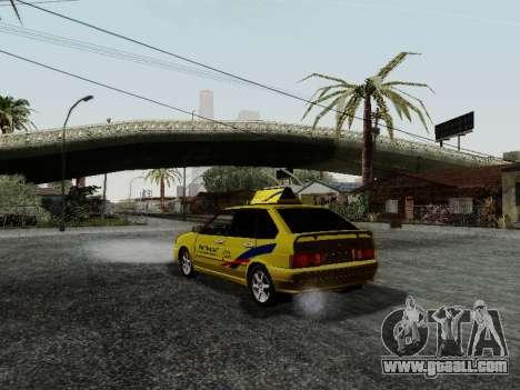 VAZ 2114 TMK afterburner for GTA San Andreas back left view