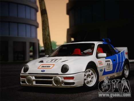 Ford RS200 Evolution 1985 for GTA San Andreas left view