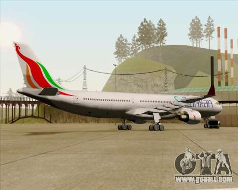 Airbus A330-300 SriLankan Airlines for GTA San Andreas back view