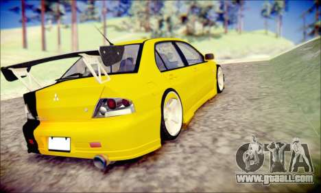 Mitsubishi Lancer Turkis Drift for GTA San Andreas back left view