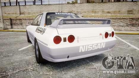 Nissan Skyline GTR R32 for GTA 4 back left view