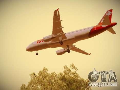 Airbus A320-214 TAM Airlines for GTA San Andreas interior