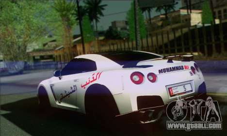 Nissan GT-R Muhammad Ali for GTA San Andreas left view