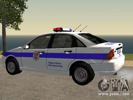 Ford Focus Police Nizhny Novgorod region for GTA San Andreas left view