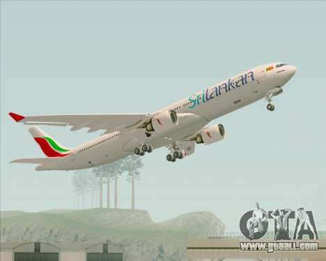 Airbus A330-300 SriLankan Airlines for GTA San Andreas bottom view