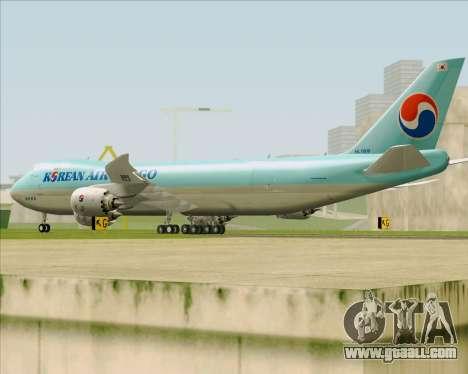 Boeing 747-8 Cargo Korean Air Cargo for GTA San Andreas right view