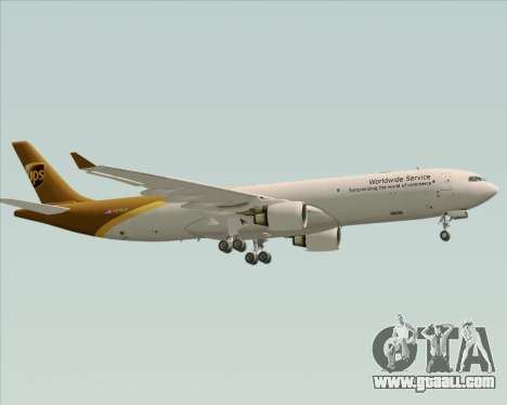 Airbus A330-300P2F UPS Airlines for GTA San Andreas back left view