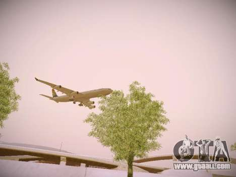 Airbus A340-300 South African Airways for GTA San Andreas side view
