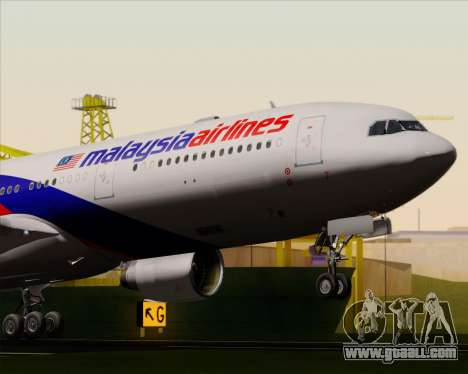 Airbus A330-323 Malaysia Airlines for GTA San Andreas side view