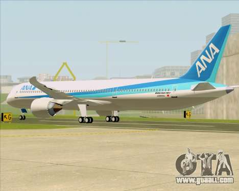 Boeing 787-9 All Nippon Airways for GTA San Andreas right view