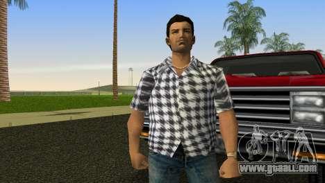 Kockas polo - feher T-Shirt for GTA Vice City second screenshot