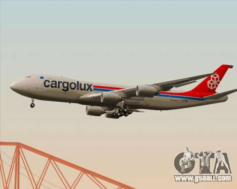 Boeing 747-8 Cargo Cargolux for GTA San Andreas back view