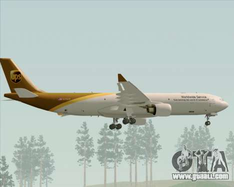 Airbus A330-300P2F UPS Airlines for GTA San Andreas wheels
