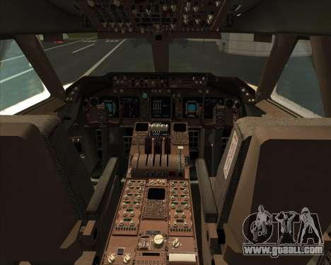 Boeing 747-830 Lufthansa - Fanhansa for GTA San Andreas interior
