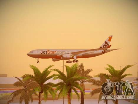 Airbus A330-200 Jetstar Airways for GTA San Andreas bottom view