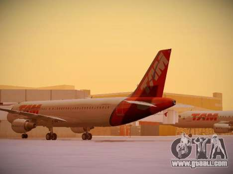 Airbus A320-214 TAM Airlines for GTA San Andreas back left view