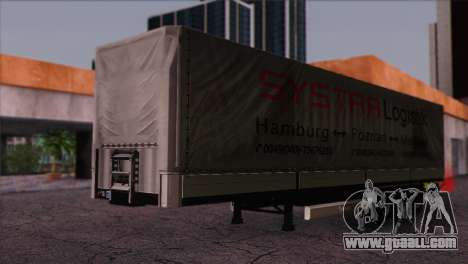 Krone SPD27 Systra Logistik for GTA San Andreas right view