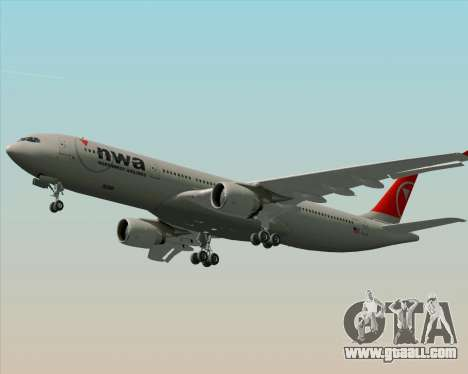 Airbus A330-300 Northwest Airlines for GTA San Andreas engine