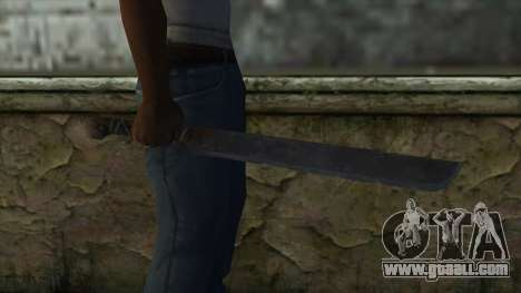 Machete from Assassins Creed 4: Freedom Cry for GTA San Andreas third screenshot