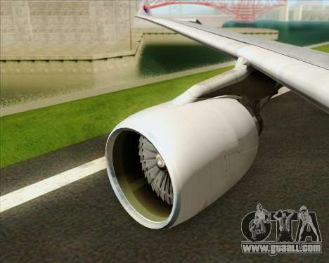 Airbus A330-323 Malaysia Airlines for GTA San Andreas engine