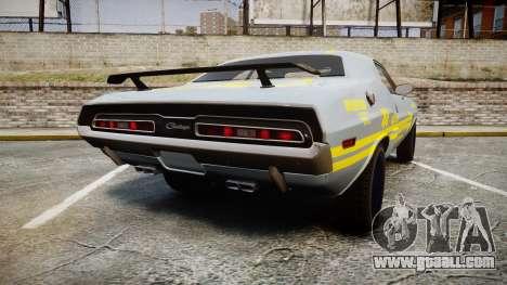 Dodge Challenger 1971 v2.2 PJ4 for GTA 4 back left view