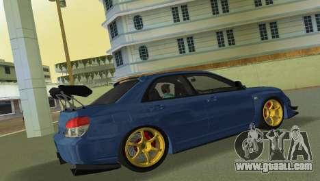 Subaru Impreza WRX STI 2006 Type 2 for GTA Vice City back view