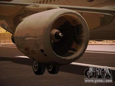 Airbus A320-214 LAN Oneworld for GTA San Andreas wheels
