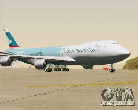 Boeing 747-8 Cargo Cathay Pacific Cargo for GTA San Andreas inner view