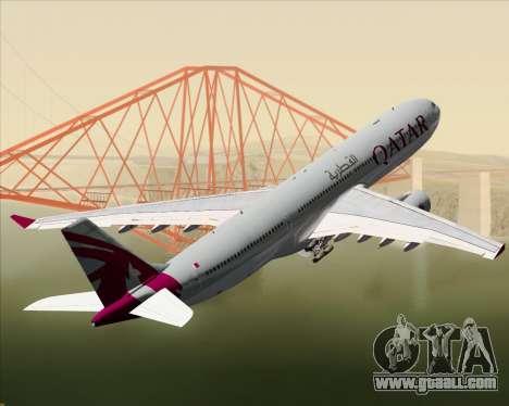Airbus A330-300 Qatar Airways for GTA San Andreas wheels