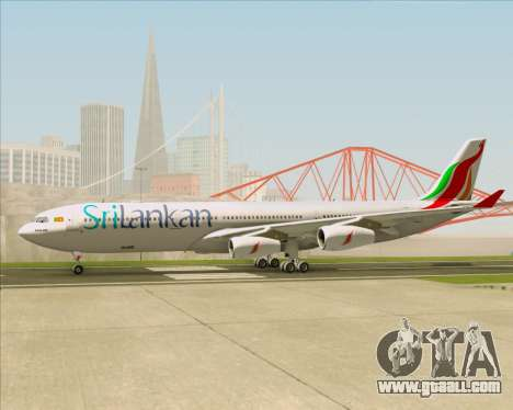 Airbus A340-313 SriLankan Airlines for GTA San Andreas inner view