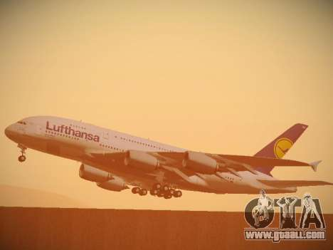 Airbus A380-800 Lufthansa for GTA San Andreas upper view
