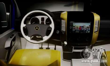 Mercedes-Benz Sprinter Dolmus v2 for GTA San Andreas back left view