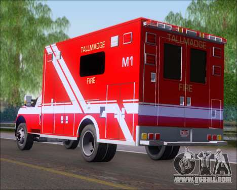 Ford F-350 Super Duty TFD Medic 1 for GTA San Andreas back left view