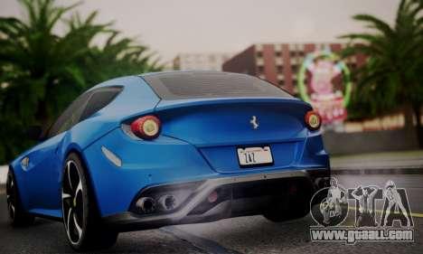 Ferrari FF 2012 for GTA San Andreas inner view