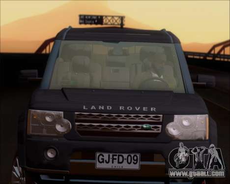Land Rover Discovery 4 for GTA San Andreas upper view